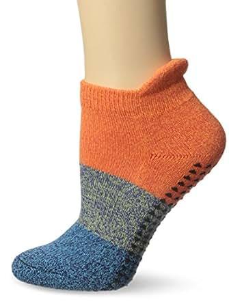 Pointe Studio Women's Naomi Barre Yoga Cushioned Grip Socks, Orange, Small/Medium