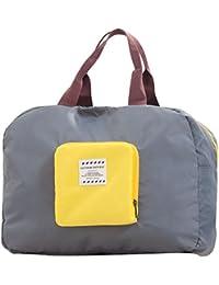 Travel Duffel Bag Waterproof Lightweight Foldable Large Capacity Luggage Bag Tote Handbag Carry on Storage Bag (Gray)
