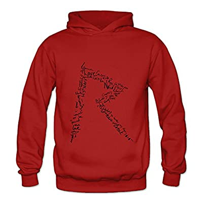 Lennakay Work Adult's Rihanna Hooded With No Pocket Red For Woman