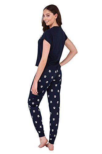 due Donna Dont Stress Meowt Pigiama Pyjamas Loungeable pezzi qp56xn