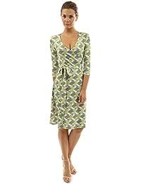 Women's Faux Wrap A Line Dress