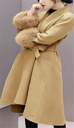 Ad Donna Caldo Plus Giaccone Prodotto Camel Cappotto Manica Lanceyy Lunga 8qgwA1Ap