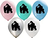 Gorilla Balloons | Colorful Latex Balloons (20-Count) Happy Birthday Party Or Event Use | Fill with Air Or Helium | Kid-Friendly