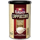 Folgers CAPPUCCINO Mocha Chocolate Instant Beverage Mix (16 oz)