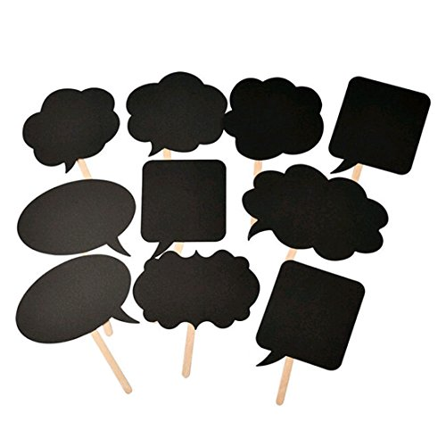 Cren® 10Pcs Photo Booth Prop DIY Bubble Speech Chalk Board Wedding Party Photobooth