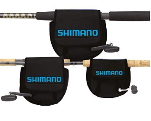 Shimano ANSC840A Neoprene Spinning Reel Cover, Medium, Black