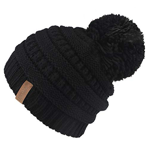 Winter Knit Beanie Hats Faux Fur Pom Pom Hat Bobble Hat Ski Cap … ()