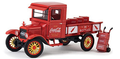StarSun Depot 1923 Ford Model TT Coca Cola Pickup Truck with 9 Coca Cola Cases and a Hand Cart 1/32 Model Car by Motorcity Classics