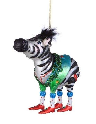Colorful Glass Zebra Christmas Holiday Ornament: Amazon.co.uk ...