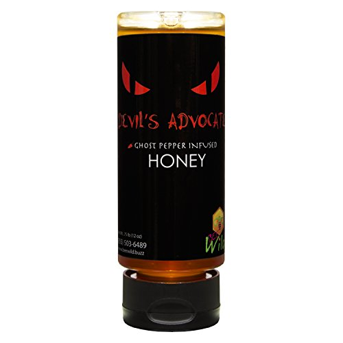 Bee Wild 100 % Pure Raw Organic Unfiltered Honey Infused with Ghost Pepper, Devil 12 ounce
