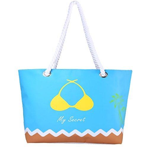 Sumerk Oversize Tote Bag Waterproof Beach Bag with Rope Handle