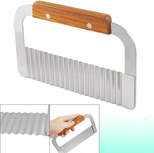 Andosange Stainless Steel Potato Chippers Crinkle Cutter Vegetable Cutter