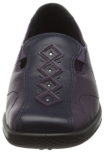 5 Mocasines Multicolor Mujer 37 Hotter EU para Multicolor Loganberry Calypso Navy UXwqxx5S