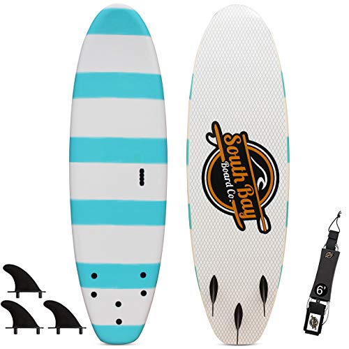 - 6' Beginner Foam Surfboard - Soft Top Surfboard for Kids - The 6' Guppy