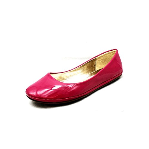 Ladies llanura zapatos / Bombas fucsia