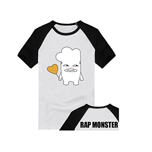 Price comparison product image Fanstown BTS bangtan boy official same cartoon HIPHOP Monster shirt J-HOPE Jinmin V Rap monster #2