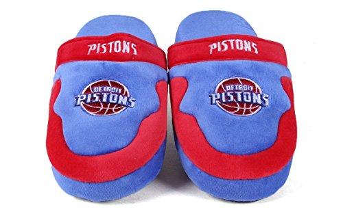 Happy Feet Mens Och Womens Officiellt Licensierade Nba Instegs Tofflor Detroit Pistons