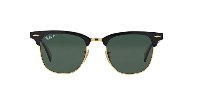 2ff48414b7 Amazon.com  Ray-Ban RB3507 CLUBMASTER ALUMINUM Unisex Sunglasses (Black  Frame Green Polarized Lens 136 N5