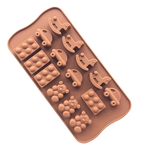 Always Your Chef Chocolate/Candy Making Molds Silicone DIY Molds Ice Cube Trays, Great Molds for Making Jello,Playground Shaped, Random Color
