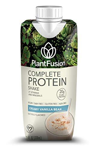 PlantFusion Complete Ready to Drink Plant Based Protein Shake, Vanilla Bean, 11 oz  Carton, 12 Count, Gluten Free, Non-GMO