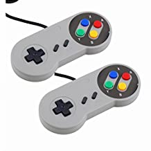 ZYOU 2pcs SNES Retro USB Controllers Nintendo Super NES Game Controller Gamepad Joystick for Windows PC / MAC / Raspberry Pi