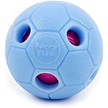 Interactive Dog Ball by FurryFido, Dog toys ball and treat dispensing for dogs,cat and small animals. Funny Dog Puzzle and Dog Toys for Boredom and Thinking (Bigger Version)(Blue)