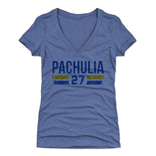 500 Level Zaza Pachulia Womens V Neck Shirt X Large Tri Royal   Golden State Basketball Womens Apparel   Zaza Pachulia Golden State Font B