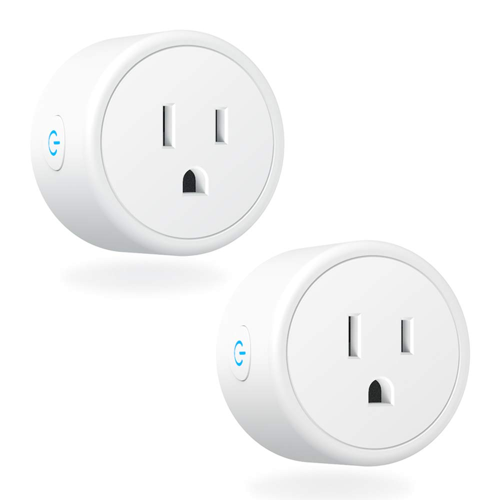 Mini Smart Plugs - Aoycocr WIFI Outlet Compatible with Alexa, Google Home & IFTTT, Remote Control with Timer Function Switch,ETL/FCC/Rohs Listed Socket, White(2 Pack)