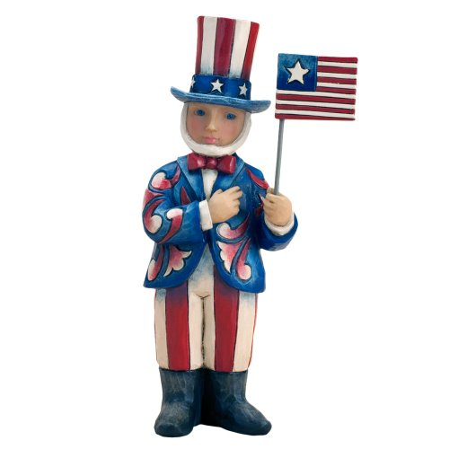 Enesco Jim Shore Heartwood Creek Pint Sized Uncle Sam Figurine, 5.375-Inch