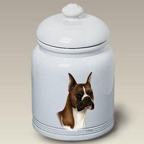 (Boxer Fawn Cropped - Tamara Burnett Treat Jars)