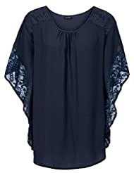 RAYWIND Women Batwing Sleeve Lace T shirt Tops Summer Casual Blouse