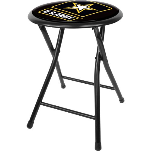 Trademark Gameroom United States Army Cushioned Folding Stool, 18
