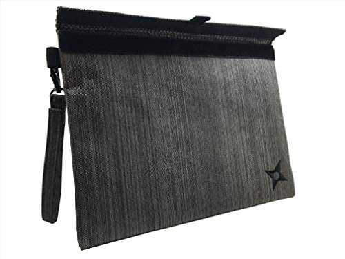 - Smell Proof Bag 12 x 9 by PHARMNABIS | Large Discreet Carbon Lined Effective Bag - Keep Your Goods Safe and Concealed. (Shogun Gray)