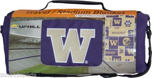 Husky Stadium (UPHILL University of Washington Huskies Water Resistant Stadium Blanket with Carry Handle and Shoulder Stra)