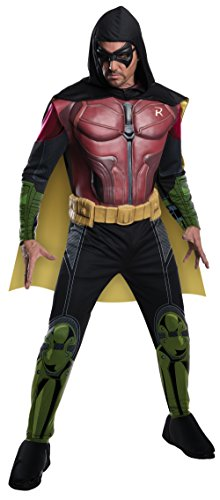 Men's Batman Arkham City Deluxe Muscle Chest Robin, Multicolor, Large