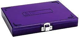 Heathrow Scientific HD15988H Polycarbonate Purple Durable True North Slide Box, 208mm Width x 175mm Height x 34mm Depth
