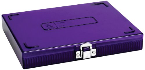 Heathrow Scientific HD15988H Polycarbonate Purple Durable True North Slide Box, 208mm Width x 175mm Height x 34mm Depth by Heathrow Scientific
