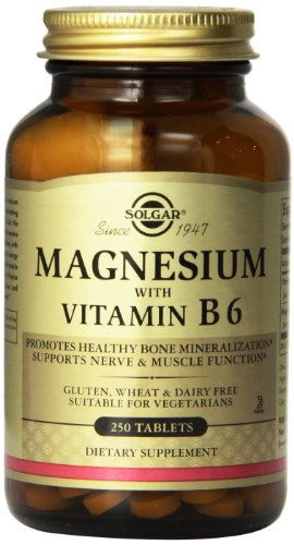 Solgar Magnesium with Vitamin B6 Tablets, 250 Count