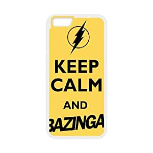 Keep Calm Bazinga iPhone 6 4.7 Inch Cell Phone Case White QD9334256