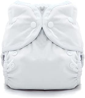product image for Thirsties Duo Wrap Cloth Diaper Cover, Snap Closure, White Size One (6-18 lbs)