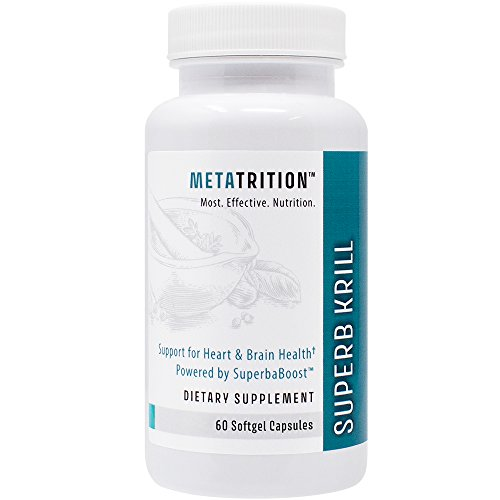 Metatrition Superb Krill Nutritional Supplements, 60 Count by Metatrition