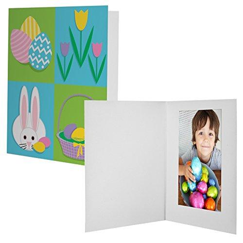 4x6 Easter Bunny Quad Photo Folder - 100 Pack