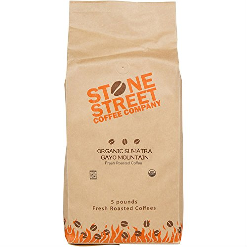 DARK SUMATRA ORGANIC Fair Trade Coffee | Whole Beans | 5 Lb Bulk Large Bag | Premium Select Indonesian Coffee Origin (Coffee Beans Indonesia compare prices)