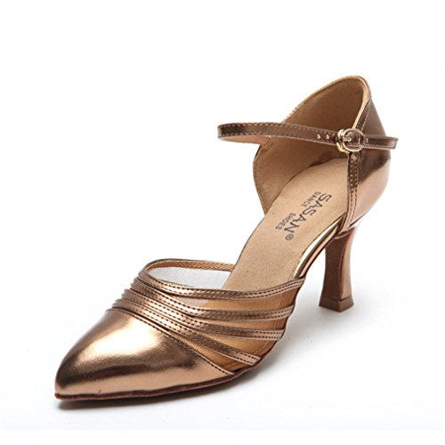 de Sandalias Latino de Zapatos de de Suave Zapatos BYLE Baile Baile Tobillo de Alto Samba Jazz Tacón Baile 35 Modern Zapatos Latino Zapatos Adultos DE Cuero fP8dHq