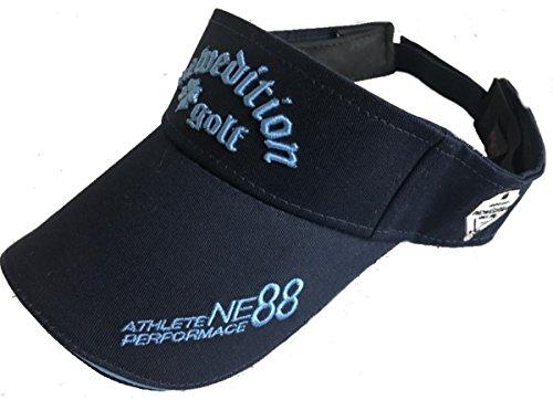 【NewEdition GOLF®】ニューエディションゴルフ?3D刺繍アスリート ワッペン コットン綿 キャップ ゴルフ サンバイザー フリーサイズNEG-213