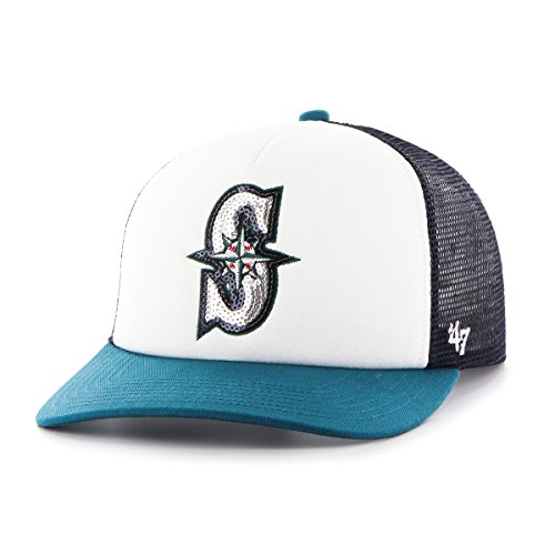MLB Seattle Mariners Women s Glimmer Captain Adjustable Snapback Hat a9d410ffb8