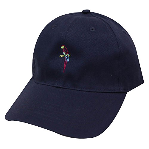 City Hunter C104 Neon Sign Parrot Cotton Baseball Caps 5 Colors (Navy) aa234d11f177
