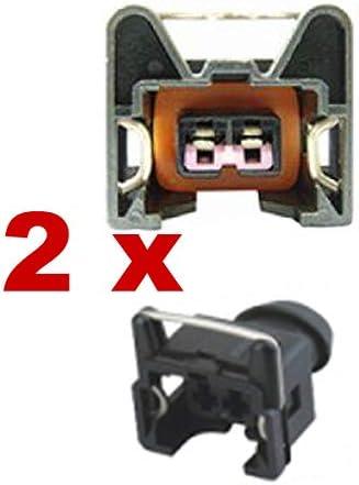 2 x FEMALE Connecteur dinjecteur BOSCH EV1 SHORT 1287013003 1 287 013 003/…