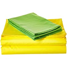 Tache Home Fashion BS4PC-YG-K 3-4 Piece Bed Sheet Set, King, Yellow