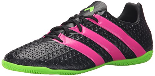 adidas Performance Men's Ace 16.4 Indoor Soccer Shoe,Black/Shock Pink/Shock Green,11.5 M US